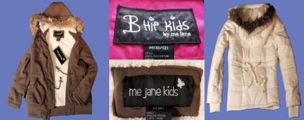 "df373dfc8 Girl s Jackets  ""Me Jane"" and ""B-Hip Kids by Me Jane"" girls  jackets ..."